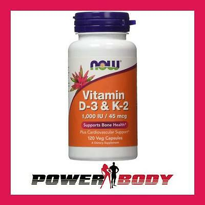 NOW Foods - Vitamin D-3 & K-2 - 120vcaps