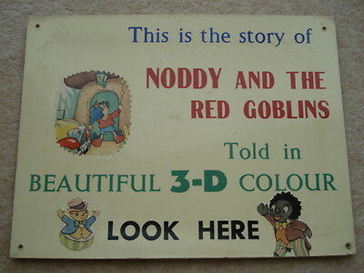 Rare C1950S Vintage Noddy&the Red Goblins Told In Beautiful 3-D Colour Adv Card