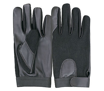 Leather Gloves Driving Cycling Riding Shooting Police Military Tactical Security