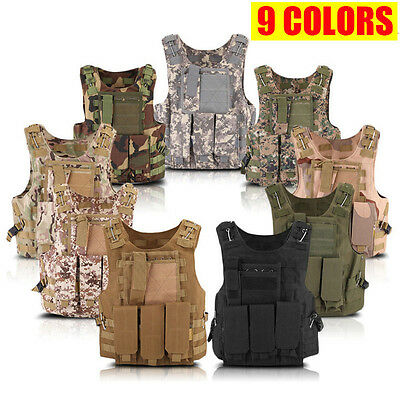 New Tactical Military Police Airsoft Molle Combat Assault Plate Carrier Vest