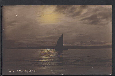 Scenic Postcard - Sailing - A Moonlight Sail RS2290