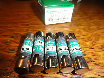5 Littlefuse  FLM-15 15A Fuses New partial  box