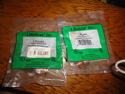 2x Littlefuse Fuse Reducer LRU263 60 a to 30 A 250 volt New sealed