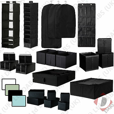 IKEA Skubb Hanging Bedroom Wardrobe Clothes Organiser, Shoe and Storage Boxes