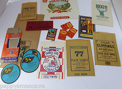 LOT OF VINTAGE TOBACCO ADVERTISEMENT/LABELS/CIGARS~free shipping A1