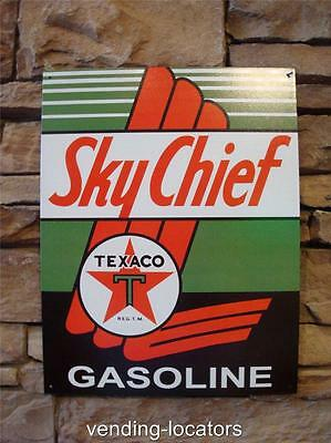 Texaco Sky Chief Gasoline Oil Advertising Sign Gas Pump Garage Vintage Style New