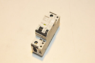 Siemens 5SY71 MCB C4 Single Pole 4A Circuit Breaker w/ Aux Circuit