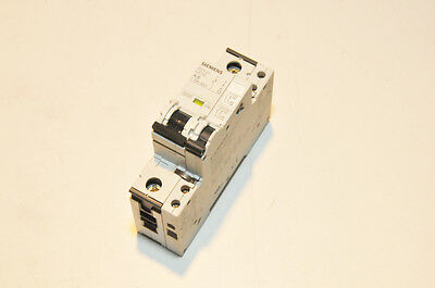 Siemens 5SY41 MCB A6 Single Pole 6A Circuit Breaker w/ Aux Circuit