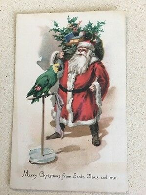 Christmas Santa With Parrot Sack Toys Gibson Lines