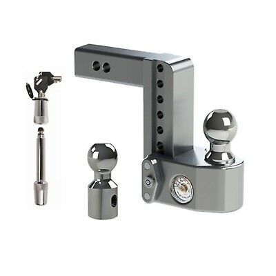 """Weigh Safe Adjustable 6"""" Drop Hitch Ball Mount w/ Tongue Weight Scale & Lock"""