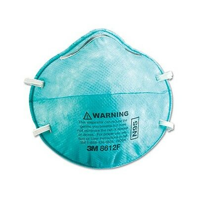 1 Case 3M 8612F N95 Respirator Mask for Health Emergencies - (1 case is 6 boxes)