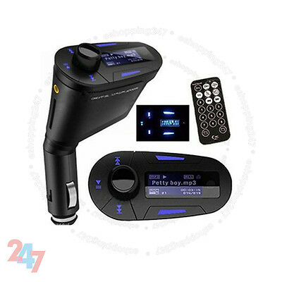Car FM Wireless Radio Transmitter Audio MP3 Player USB SD For Mobile Phone S247
