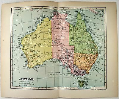 Original 1902 Dated Map of Australia by Dodd Mead & Company