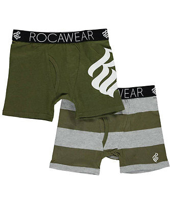 """Rocawear Little Boys' Toddler """"Solid Logo"""" 2-Pack Boxer Briefs (Sizes 2T - 4T)"""