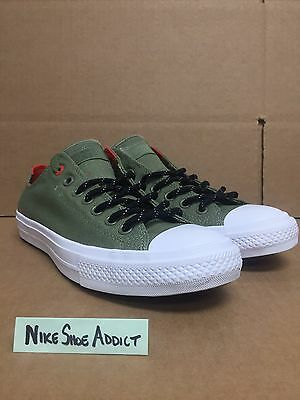 4beef19d7025 Converse Chuck Taylor All Star II CTAS OX Low Fatigue Green Olive White  153540C
