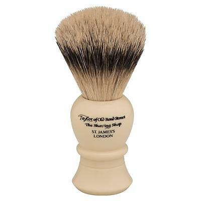 Pennello Da Barba Tasso Argentato Taylor 45191 Shaving Brush Made In England