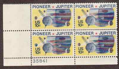 Scott # 1556...10 Cent ....Pioneer / Jupiter... 10 Plate Blocks...40 Stamps