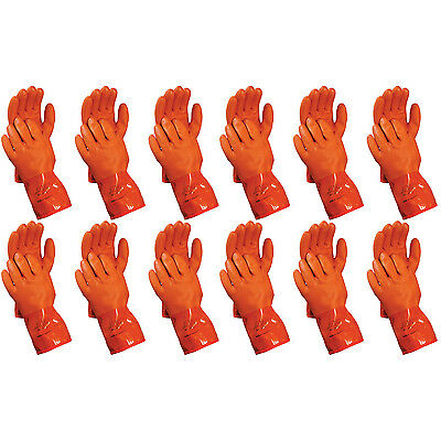 Atlas 460 Vinylove Cold Weather PVC Insulated Freezer Large Gloves, 12-Pairs
