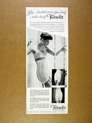 1956 Formfit Life Sleek & Pantie Girdle white lingerie bra woman photo print Ad