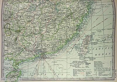 Original 1898 Map of China - Eastern Part - By The Century Company