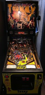 The Who's Tommy Pinball Wizard Pinball Machine Data East Arcade Coin Operated