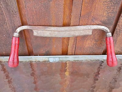 """Vintage Drawshave 8"""" Blade Draw Knife with Wooden Handles Total Length 16"""" Long"""