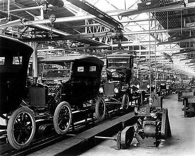 Vintage Photograph of FORD Assembly Line 8X10 Print Picture Photo Old Cars Car