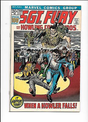 Sgt. Fury And His Howling Commandos #100 July 1972 Captain America Fantastic 4