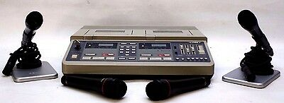 Sony BM246 4 Track 4 channel Transcriber Recorder With Key And Mics Please Read