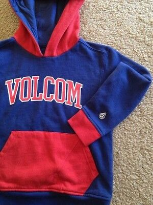 Volcom Kids Boys Hoodie Sweater USA Size M/5 Excellent Blue Red