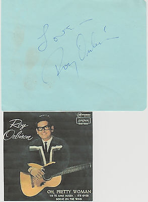 Roy Orbison signed album page!