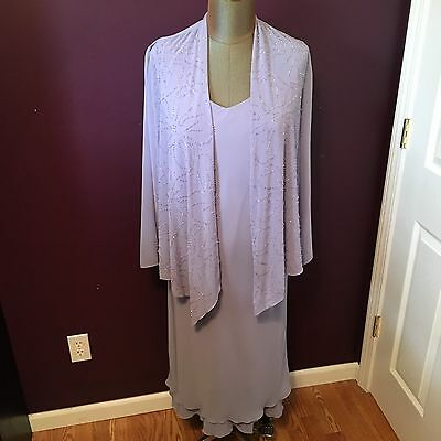 S.L. Fashions Lilac Mother of the Bride Groom Formal Dress Women's Size 12