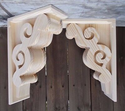 Set of 2 Large Victorian Design Corbels.. 11 x 17 x 5      (SCW #62M)