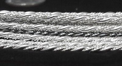 Solid 925 Sterling Silver Beaded Twist Pattern Wire 2.16mm 11 Gauge Soft USA