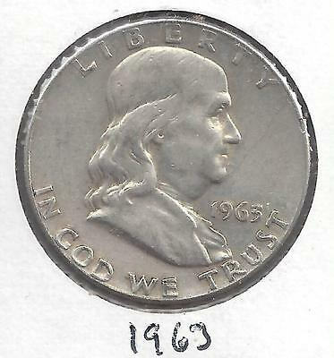 1963 P Franklin Half Dollar Nice circulated 90% US Silver Coin