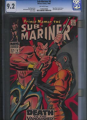 Sub-Mariner # 6 CGC 9.2 Off White Pages. UnRestored