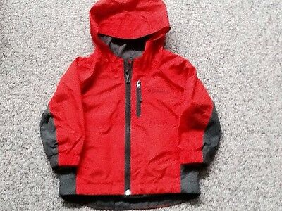 Infant Boys Columbia Jacket With Hood Color Red Size 2T
