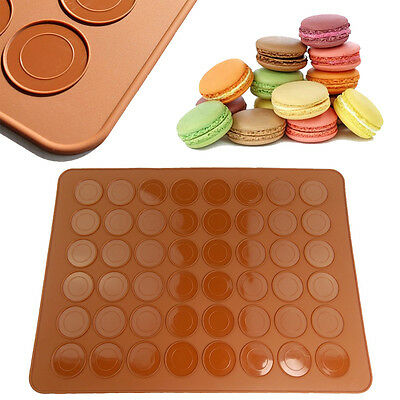 Double Sided Silicone Macaron Macaroon Mat Oven Baking Liner Sheet Cookies Cake