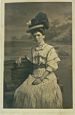 POSTCARDS. ACTRESS UNKNOWN.'QUEEN OF HATS!' No.1 AT THE MELBOURNE CUP!!!