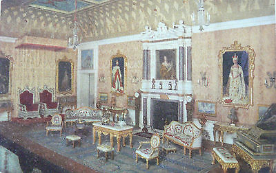 POSTCARD:TUCK'S.THE QUEENS DOLLS HOUSE (Series 1).THE DRAWING ROOM/GRAND SALOON