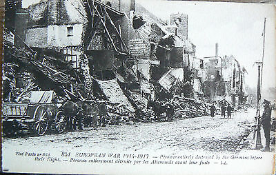Postcard -851 European War 1914-17.peronne Entirely Destroyed By The Germans
