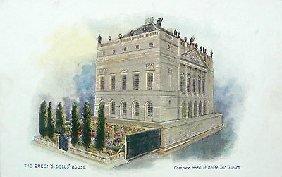 Postcard:tuck's.the Queens Dolls House.series Vi.complete Model Of House/garden
