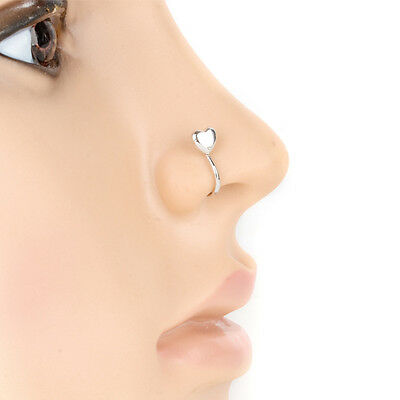Nasenpiercing Nase Ring Clip On Nasen Klemme Herz Fake Stecker Piercing Schmuck