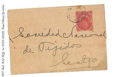 EE42 Chile Stationery 2c Newspaper Wrapper Used {samwells-covers}PTS