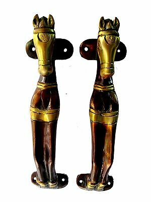 Horse Shape Antique Vintage Style Handmade Brass Door Handle/door Pull Decor
