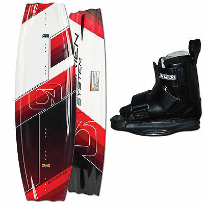 Obrien Wakeboard System Red 135 Cm + Mesle System Bindung Gr. S/m = 38 - 42 Eu