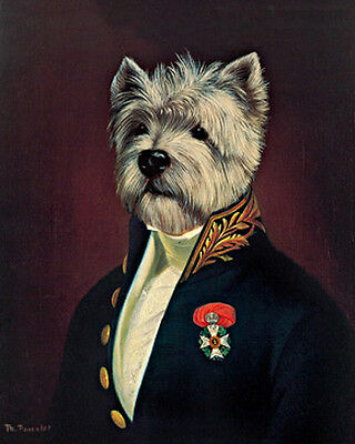 Poncelet, Thierry The Officer Gemälde Hund Grösse 28x35 Kunstdruck Artprint