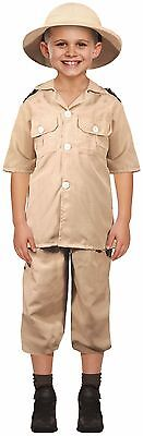 Kids Boys Girls Safari Explorer Book Day Fancy Dress Costume Outfit 4-12 years