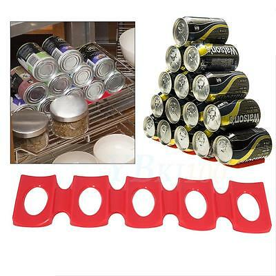 Kitchen Fridge Can Holder Beer Wine Rack Mat Stacking Tidy Tool Silicone TP
