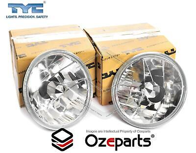 "Pair 7"" Inch 178mm Head Light Crystal Clear For Nissan Patrol GQ 88~99"
